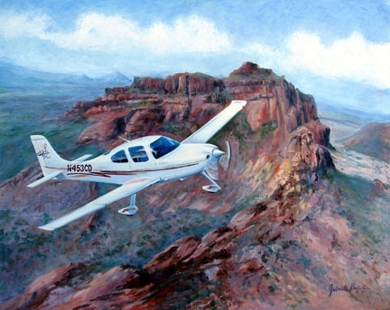 Cirrus over Red Mountain by gabriele baber Oil ~ 20 x 24
