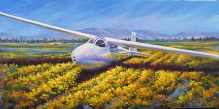 KA6CR sailplane by gabriele baber Oil ~ 12 x 24