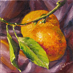 #14 Daily Painting by Gabriele Baber: 6x6 oil on canvas