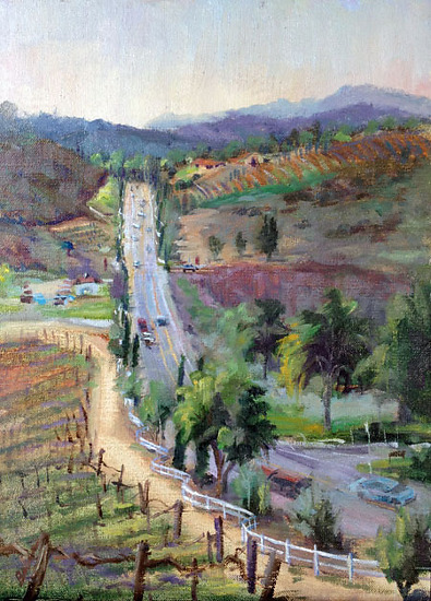 """Rancho Wine Country"" by gabriele baber Oil ~ 12 x 9"