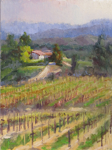 "Daily Painting,""Van Roekel View"" by gabriele baber Oil ~ 8 x 6"