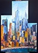 Freedom Tower Elevation by Robert Gilbert Oil ~ 46 x 32