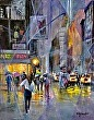 Without an umbrella by Robert Gilbert Oil ~ 30 x 24