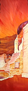 Cliff Palace by Rayann Orr Mixed Medium ~ 30 x 11