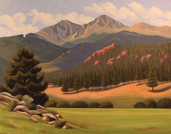 Longs Peak from McGregor Ranch - Oil