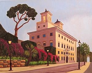 Villa de Medici Rome Italy by Ruth Soller Oil ~ 16 x 20