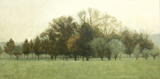 A Quiet Grove - Oil