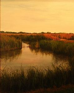 """Sweet Summer"" by Rene' Wiley Gallery Oil ~ 30 x 24"