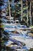 Secluded Falls by James Roybal Pastel ~ 24 x 16