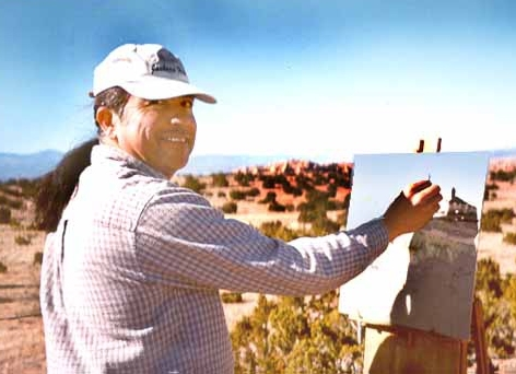 James plein air painting in Chimayo -