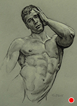 Figure Drawing..021613 by Ron Griswold Charcoal ~ 12 x 8