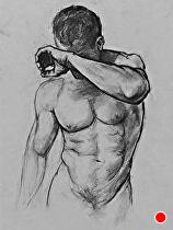 Figure Drawing.. by Ron Griswold Charcoal ~  x