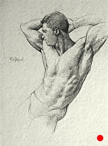 Figure Drawing..1..090811..WS2 by Ron Griswold Pencil ~ 12 x 9