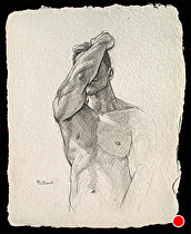 Figure Study..022212a by Ron Griswold Pencil ~ 12 x 9