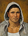Portait Study..The Hoodie by Ron Griswold Oil ~ 10 x 8