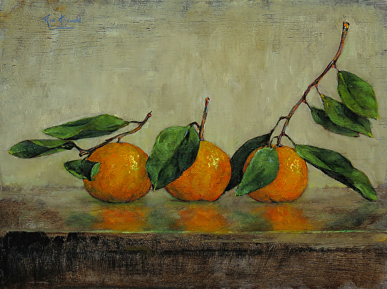 Three Satsumas..122613 - Oil