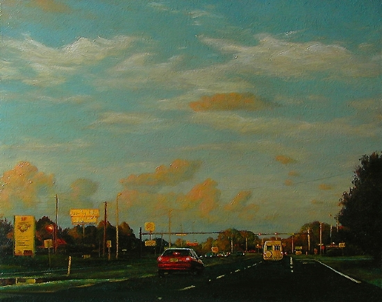 Navarre Exit by Ron Griswold Oil ~ w x w