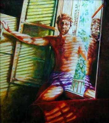 Self Portrait in Key West by Ron Griswold  ~ 30 x 32
