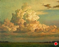 Summer Evening Clouds by Ron Griswold Oil ~ 11 x 14