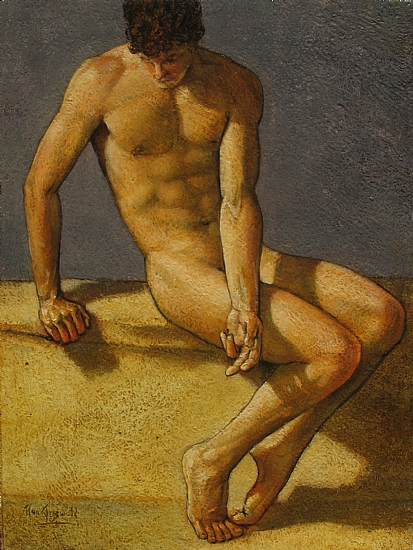 Figure Study. Classic Pose by Ron Griswold Oil ~ 12 x 9