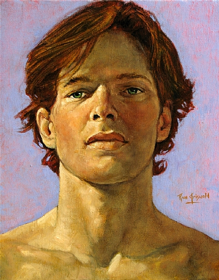 Head Study...090511 by Ron Griswold Oil ~ 10 x 8