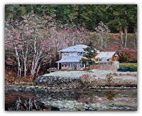 "Pintail House by Arlon Rosenoff Palette Knife Oil ~ 16"" x 20"""