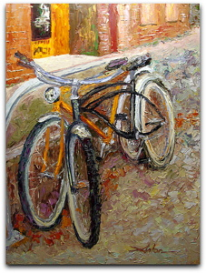 "Georgetown Cruisers by Arlon Rosenoff Palette Knife Oil ~ 48"" x 36"""