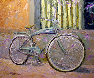 "Cafe Parking by Arlon Rosenoff Palette Knife Oil ~ 40"" x 48"""