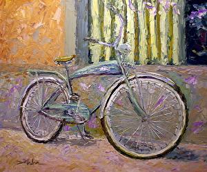 "Cafe Parking by Arlon Rosenoff Palette Knife Oil ~ 40"" x 48"""