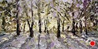 "Edge of Light by Arlon Rosenoff Palette Knife Oil ~ 10"" x 20"""