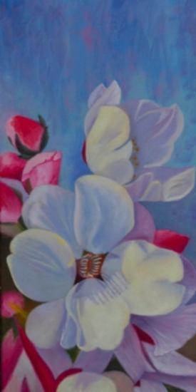 Sarah's Flowers - Oil