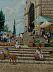 En los Pasos en el Mercado by Annette Hodges