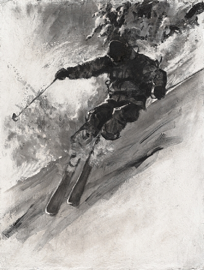 Extreme Skier by Richard Alan Nichols  ~ 20 x 16
