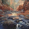 Oak Creek by Richard Alan Nichols  ~ 28 x 22