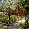 Blumy's Garden by Richard Alan Nichols Oil ~ 30 x 30