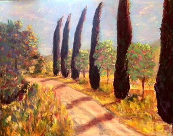 The Road of Cedar Splendor - Pastel