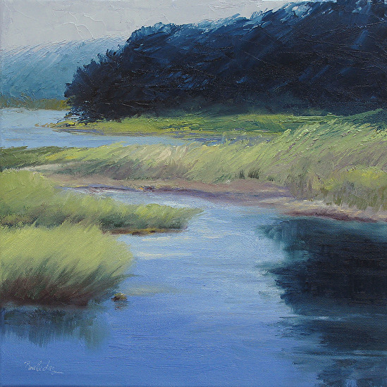 Hogdon Pond: Acadia - Oil