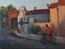 Paseo Pedaler by  Oklahoma Lady Artists Oil ~ 18 x 24""
