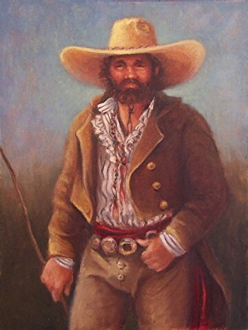 Mountain Man by  Oklahoma Lady Artists Oil ~ 16 x 12