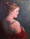 Phoenix Tattoo by  Oklahoma Lady Artists Oil ~ 16 x 12