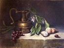 Copper With Shells by  Oklahoma Lady Artists Oil ~ 12 x 16