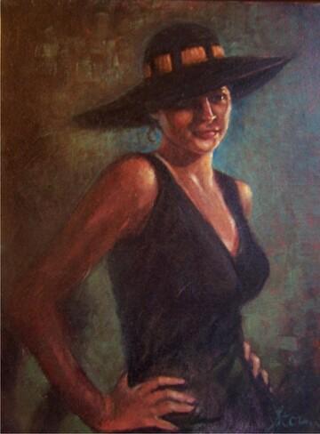 Attitude by  Oklahoma Lady Artists Oil ~ 16 x 12