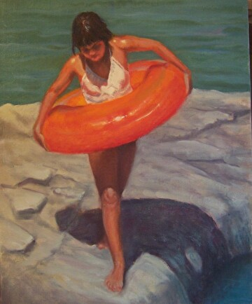 Water Ballerina by  Oklahoma Lady Artists Oil ~ 20 x 16