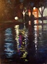 Canal Reflections by  Oklahoma Lady Artists Oil ~ 16 x 12