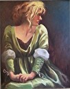 Chartreuse by  Oklahoma Lady Artists Oil ~ 20 x 16