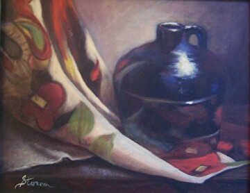 Portrait of a Jug by  Oklahoma Lady Artists Oil ~ 11 x 14