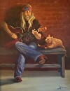 Music Appreciation by  Oklahoma Lady Artists Oil ~ 28 x 22