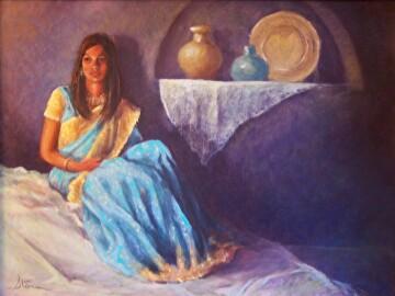 Ethnicity by  Oklahoma Lady Artists Oil ~ 18 x 24