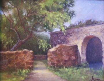 Rock Portals by  Oklahoma Lady Artists Oil ~ 11 x 14
