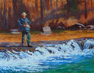 One Day More by  Oklahoma Lady Artists Oil ~ 14 x 18